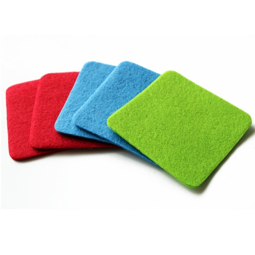 Square Polyester Felt Drink Coasters Felt Cup Coasters