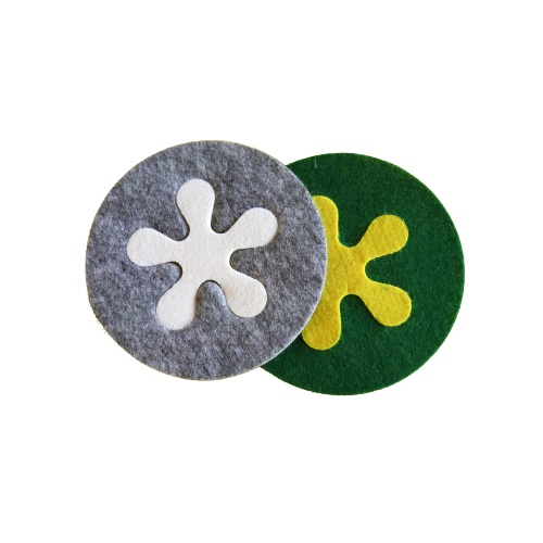 2 in 1 Fitted Felt Beer Coasters Cup Coasters