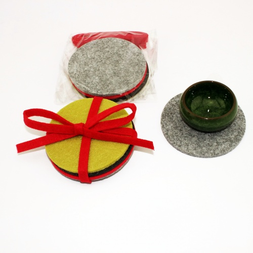 High Quality Felt Square Coasters Set 5mm thickness